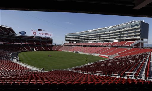 """<div class=""""meta image-caption""""><div class=""""origin-logo origin-image """"><span></span></div><span class=""""caption-text"""">San Francisco 49ers CEO Jed York speaks before the ribbon-cutting and opening of Levi's Stadium. (AP Photo/Eric Risberg)</span></div>"""