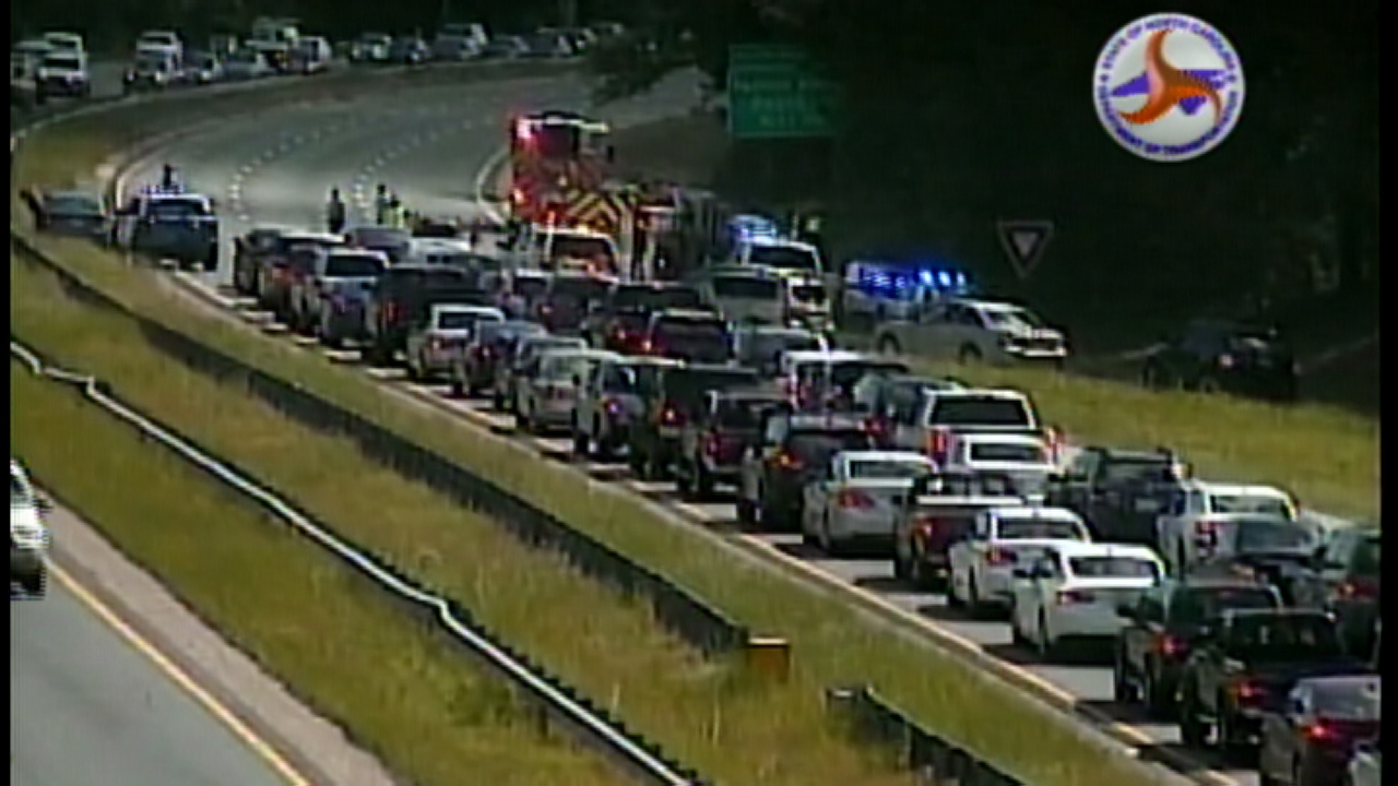 Wreck slows traffic on I-440 in Wake County