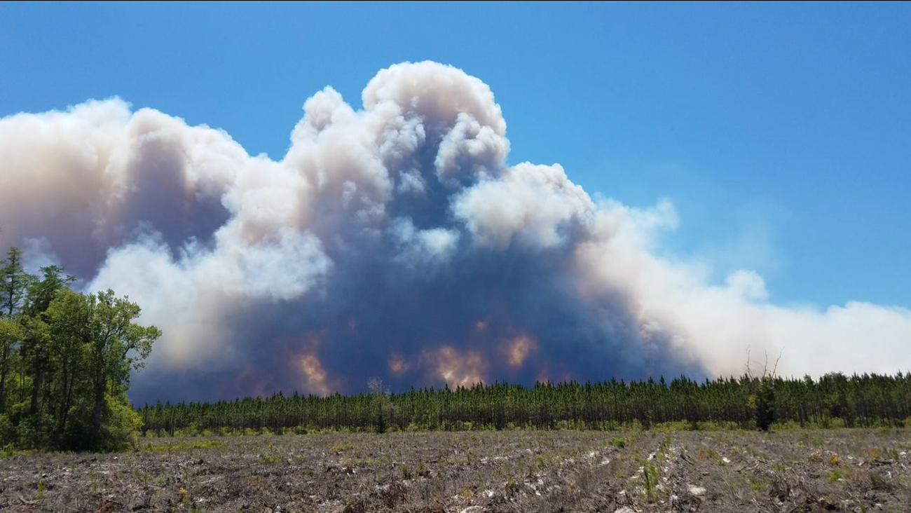 Wildfires at Okefenokee National Wildlife Refuge