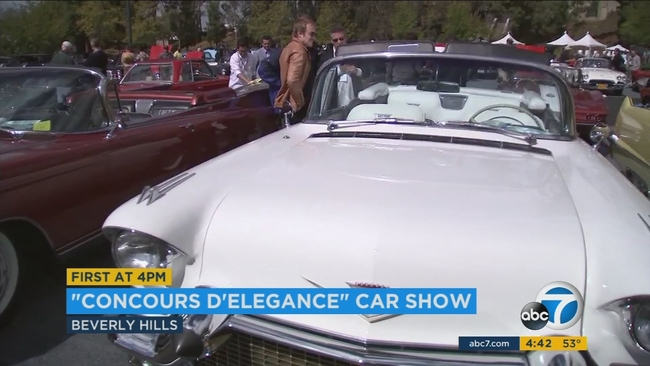 Concours DElegance Rolls Into Greystone Mansion In Beverly Hills - Beverly hills car show