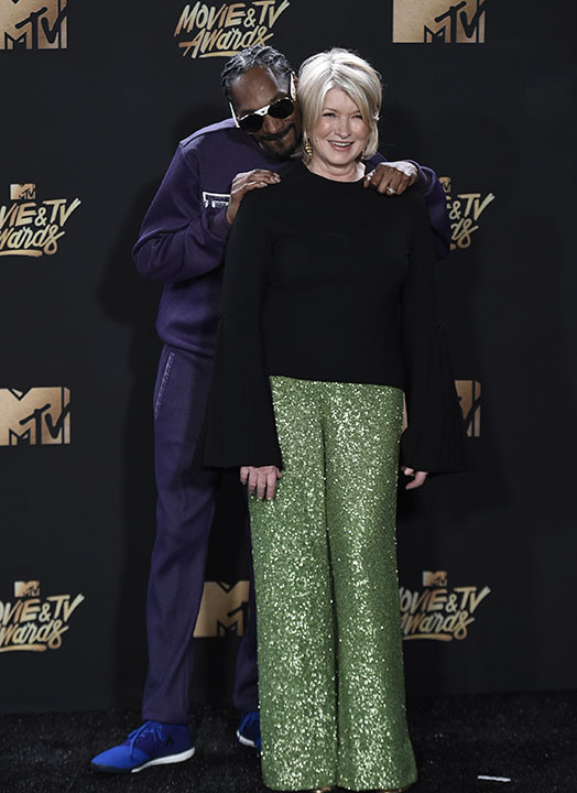 "<div class=""meta image-caption""><div class=""origin-logo origin-image none""><span>none</span></div><span class=""caption-text"">Snoop Dogg, left, and Martha Stewart pose in the press room at the MTV Movie and TV Awards at the Shrine Auditorium on Sunday, May 7, 2017, in Los Angeles. (Richard Shotwell/Invision/AP)</span></div>"