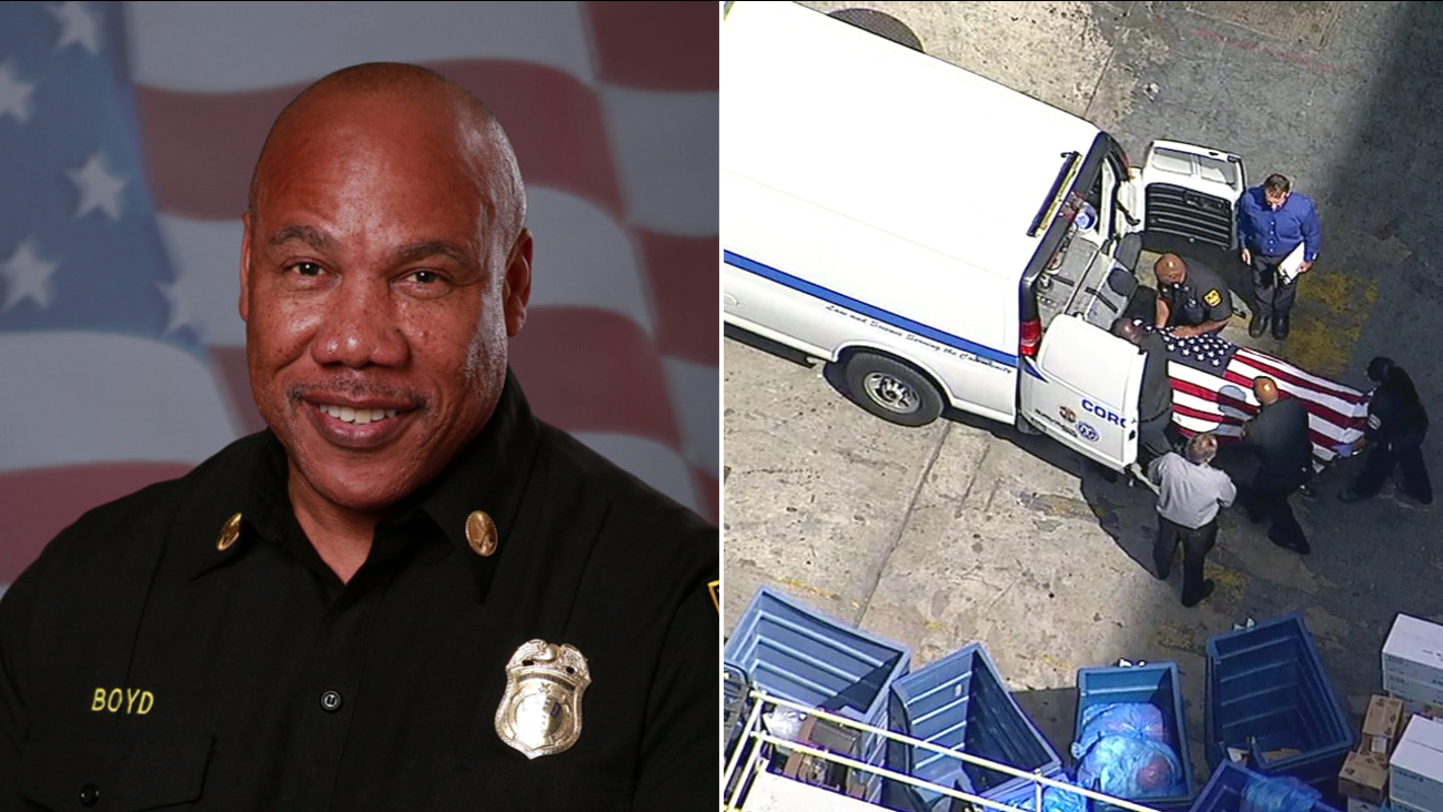 Los Angeles Battalion Chief Jerome Boyd, 55, died after officials said he suffered a medical emergency while driving on Los Angeles Street on Friday, April 28, 2017.