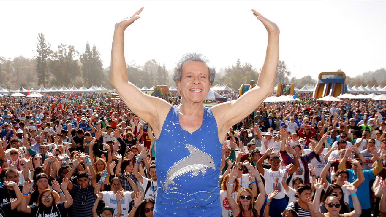 Richard Simmons onstage at JDRF's Los Angeles Walk to Cure Diabetes at the Rose Bowl on Sunday, Oct. 27, 2013 in Pasadena, California.