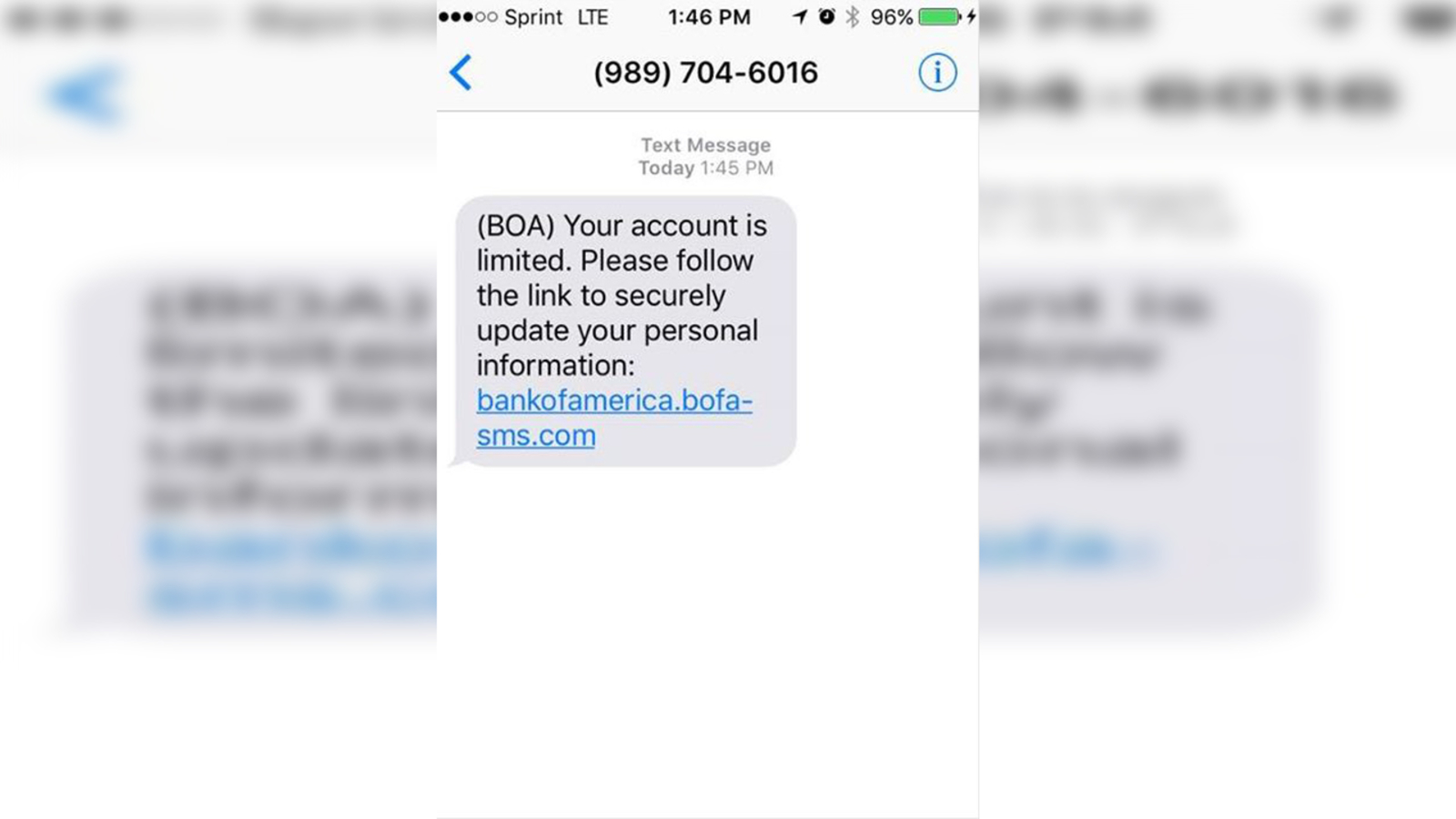 Bank Of America Text Message Phishing Scam Resurfaces Abc11 Raleigh Durham