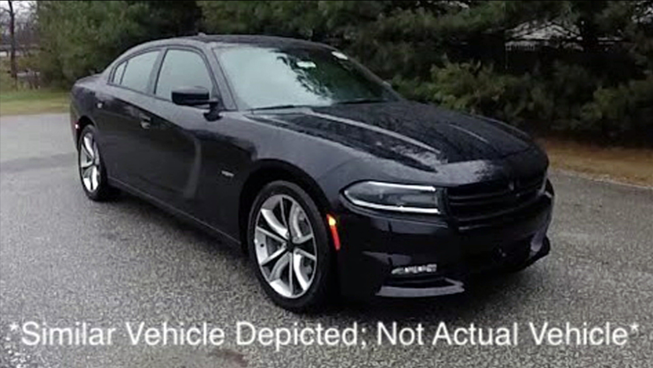 Authorities said a thief stole an unmarked Los Angeles County Sheriff's Department cruiser at the Alhambra Dodge dealership in Alhambra on Sunday, May 7, 2017.