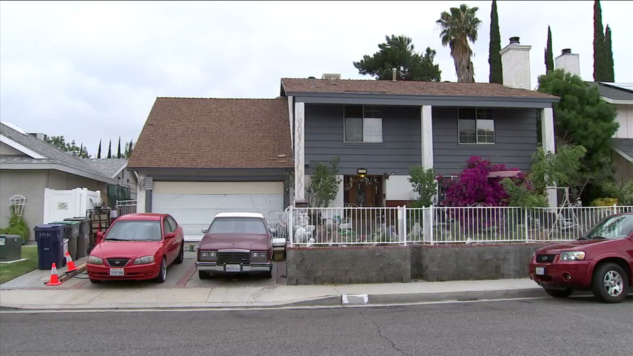 A home that authorities believe an elderly woman uses to deal drugs is shown in Santa Clarita.