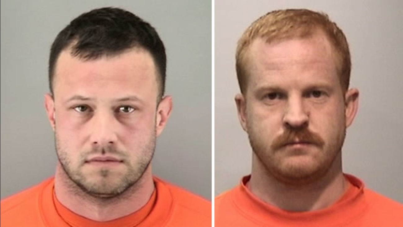 These mug shots of Billy Lockhart (left) and Benjamin Martin (right) were provided by San Francisco police on Thursday, May 11, 2017.