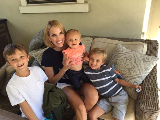 <div class='meta'><div class='origin-logo' data-origin='KTRK'></div><span class='caption-text' data-credit=''>ABC13 anchor Ilona Carson with her sons and daughter</span></div>
