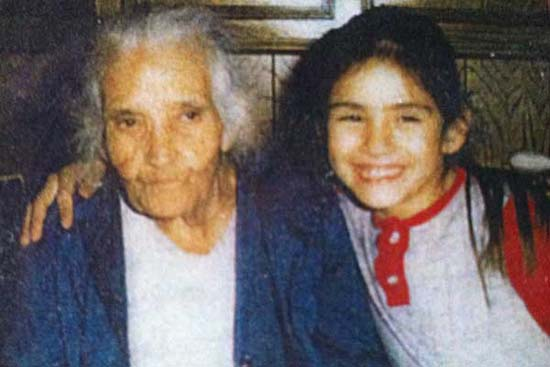 <div class='meta'><div class='origin-logo' data-origin='KTRK'></div><span class='caption-text' data-credit=''>ABC13 reporter Elissa Rivas with her great-grandmother</span></div>