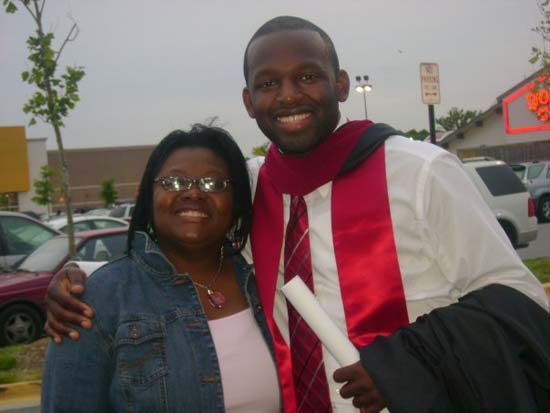 <div class='meta'><div class='origin-logo' data-origin='none'></div><span class='caption-text' data-credit=''>ABC13 reporter Tracy Clemons with his mother on his graduation day</span></div>