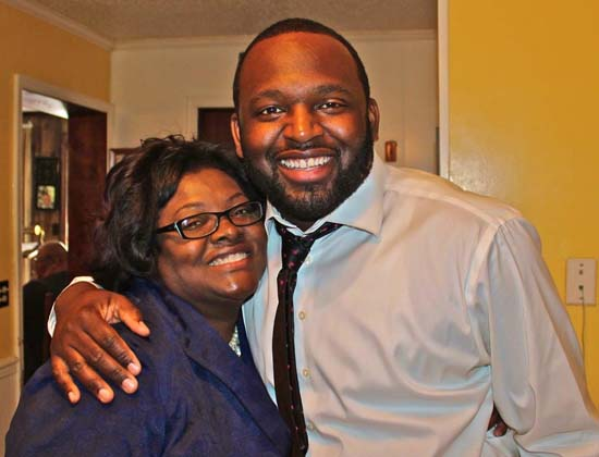 <div class='meta'><div class='origin-logo' data-origin='none'></div><span class='caption-text' data-credit=''>ABC13 reporter Tracy Clemons with his mother</span></div>