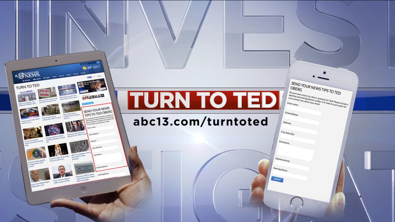Send your story ideas to ted oberg investigates abc13.com