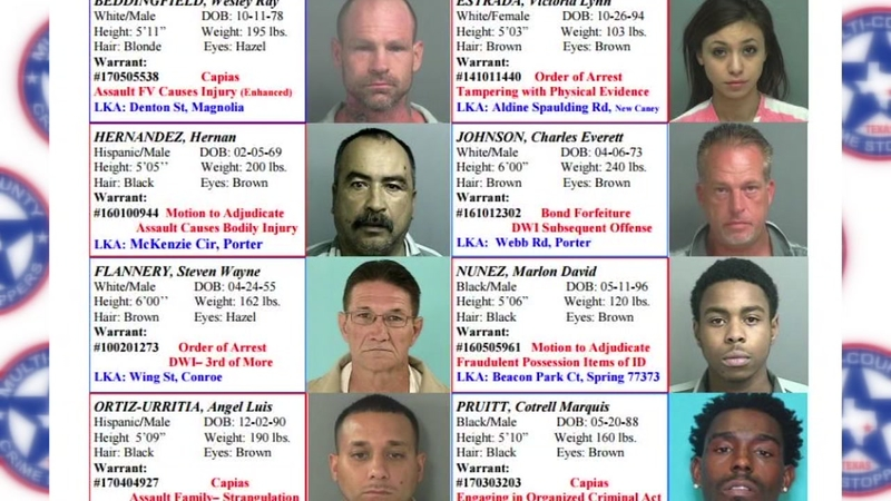 Meet Liberty, Montgomery and San Jacinto Co 's most wanted fugitives