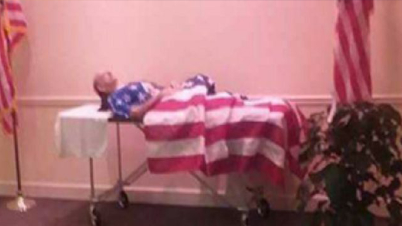 A dispute over a Georgia veteran's funeral has gotten the attention of thousands on social media.