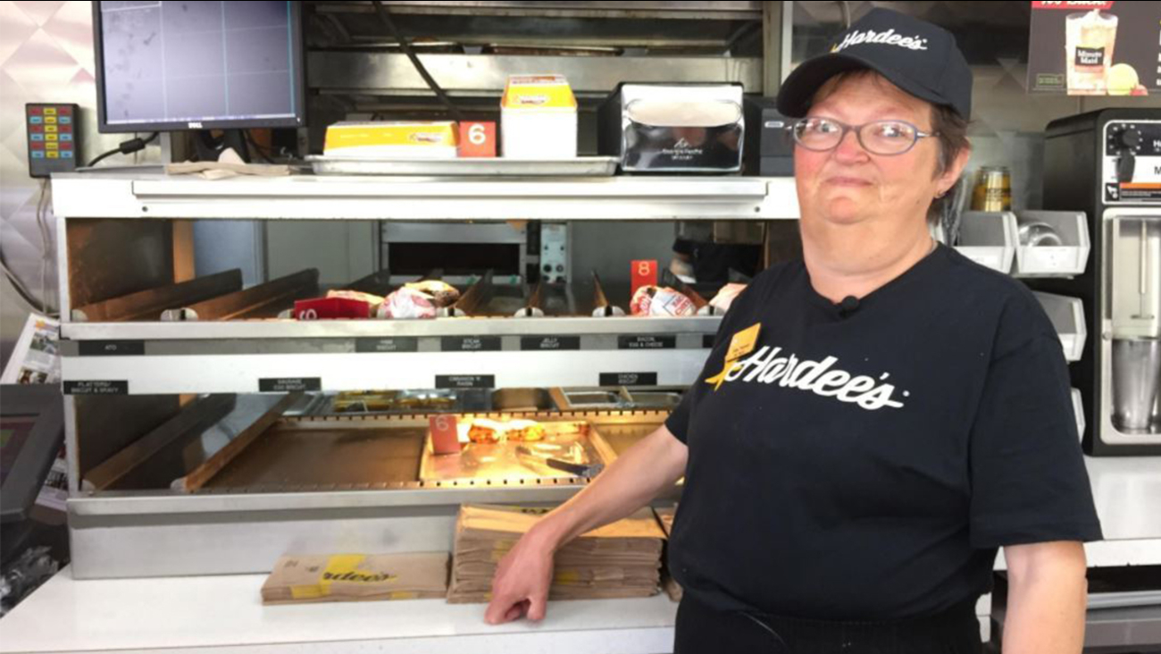 Emma Peterson has worked at Hardee's in Burnsville for 25 years