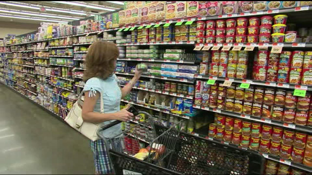 File -- undated photo shows woman shopping at grocery store.