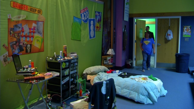 Mock teen bedroom teaches parents about hidden drug dangers