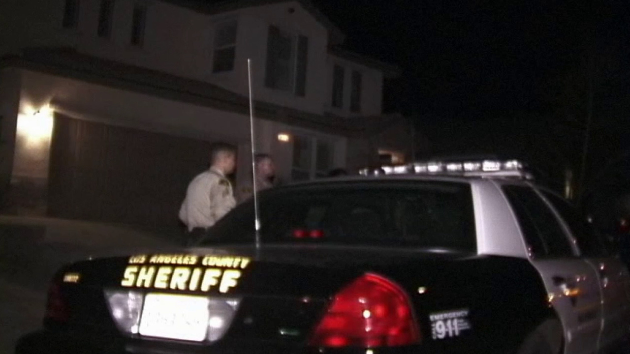 Los Angeles County sheriff's deputies respond to a call about a kidnapping and assault in Palmdale that turned out to be a hoax on Saturday, July 19, 2014.