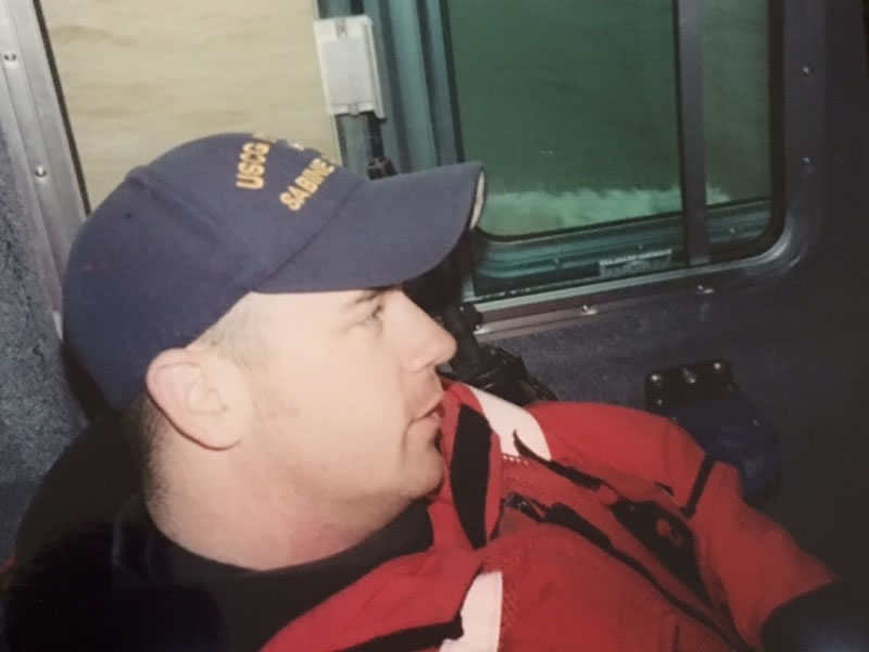 This undated image shows Coast Guard Officer Marcus Butler.