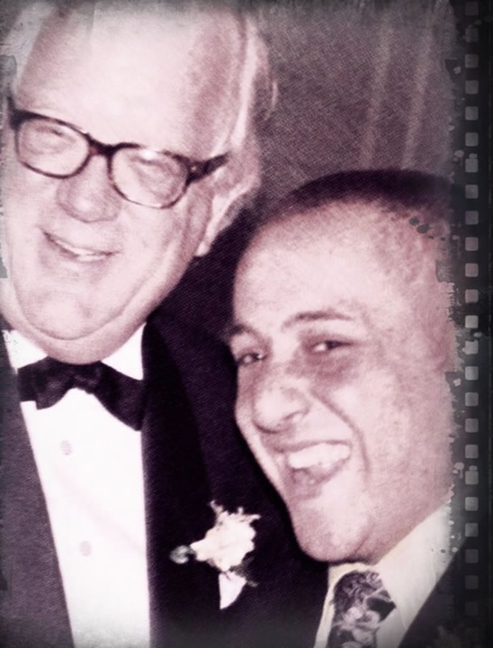 This undated image shows Kevin Hines and his father.