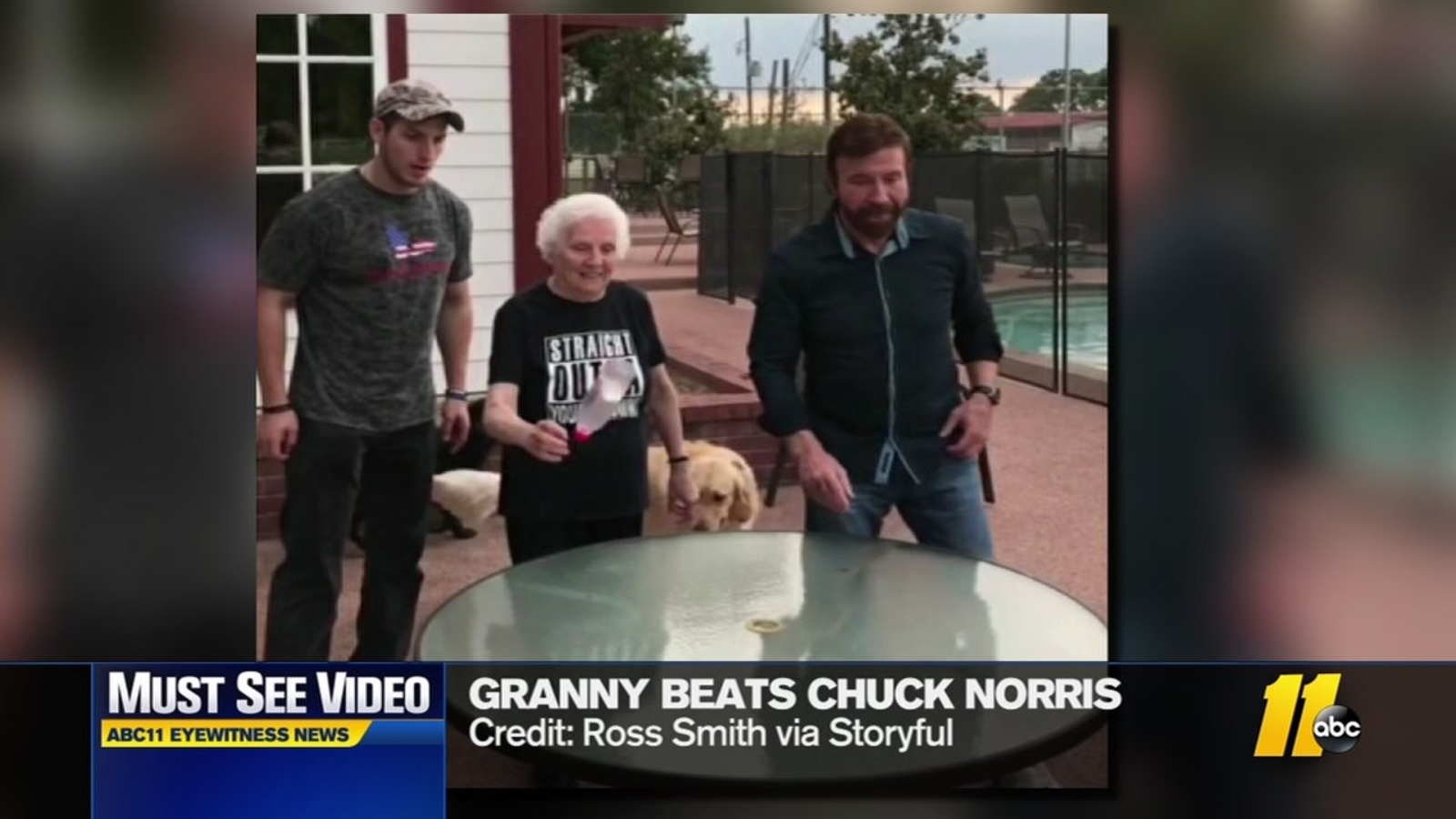 Granny beats Chuck Norris