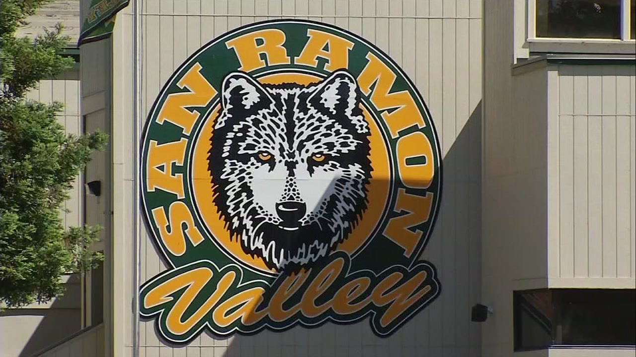 A sign at San Ramon Valley High School in Danville, Calif. appears on Friday, May 19, 2017.