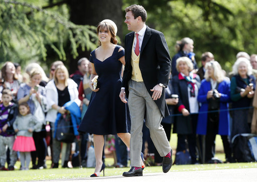 "<div class=""meta image-caption""><div class=""origin-logo origin-image none""><span>none</span></div><span class=""caption-text"">Princess Eugenie and Jack Brooksbank arrive for the wedding of Pippa Middleton and James Matthews at St Mark's Church in Englefield Saturday, May 20, 2017. (AP)</span></div>"