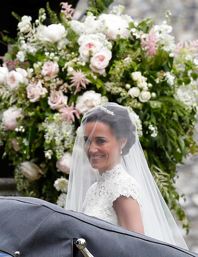 "<div class=""meta image-caption""><div class=""origin-logo origin-image none""><span>none</span></div><span class=""caption-text"">Pippa Middleton arrives for her wedding to James Matthews, Saturday, May 20, 2017.</span></div>"