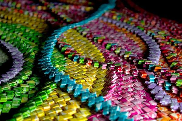 Woman spends 4 years making Starburst candy wrapper dress, inspired