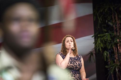<div class='meta'><div class='origin-logo' data-origin='KTRK'></div><span class='caption-text' data-credit='Allen S. Kramer/Texas Children's Hospital.'>Texas Children's Cancer Center survivor Christian Spear singing the National Anthem</span></div>
