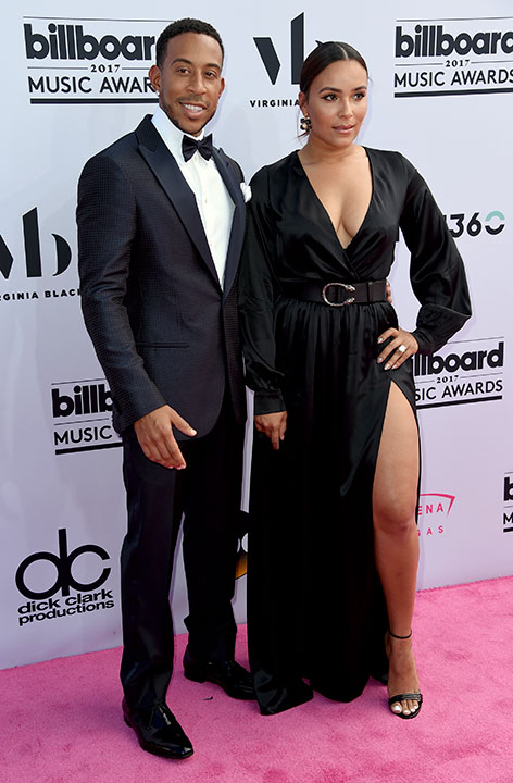 "<div class=""meta image-caption""><div class=""origin-logo origin-image none""><span>none</span></div><span class=""caption-text"">Ludacris, left, and Eudoxie Mbouguiengue arrives at the Billboard Music Awards at the T-Mobile Arena on Sunday, May 21, 2017, in Las Vegas. (Richard Shotwell/Invision/AP)</span></div>"