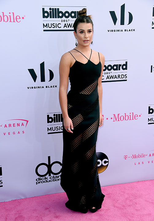 "<div class=""meta image-caption""><div class=""origin-logo origin-image none""><span>none</span></div><span class=""caption-text"">Lea Michele arrives at the Billboard Music Awards at the T-Mobile Arena on Sunday, May 21, 2017, in Las Vegas. (Richard Shotwell/Invision/AP)</span></div>"