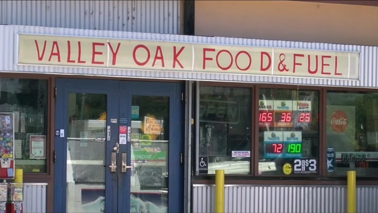 This undated image shows the Valley Oak Food & Fuel gas station in Walnut Grove, Calif.