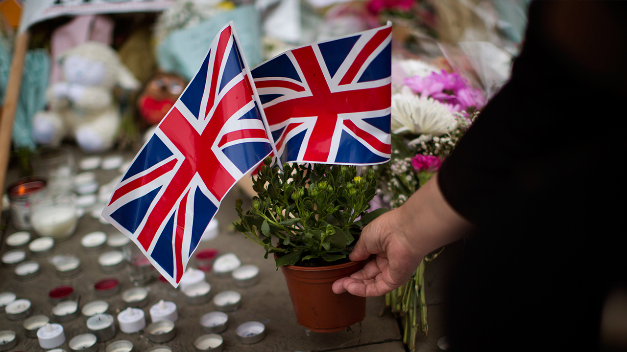 Image of two British flags