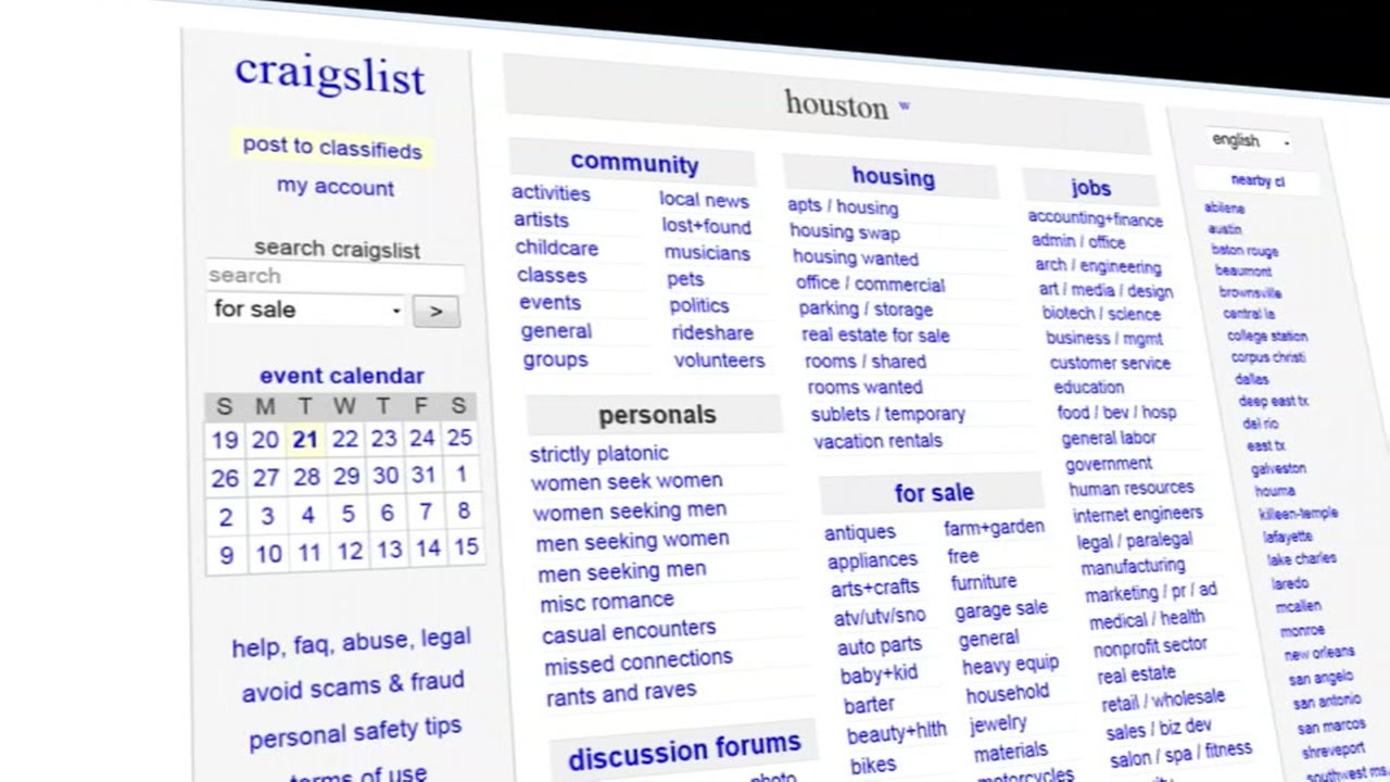 7 Ways To Stay Safe While Shopping On Craigslist Abc13 Com