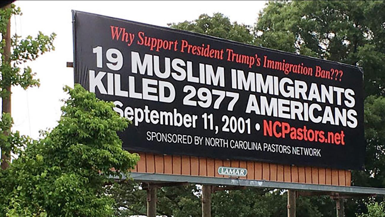 Billboard along Interstate 40 in Catawba County