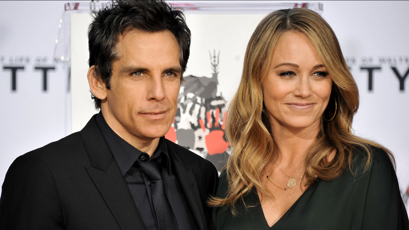 Actor Ben Stiller, left, and wife Christine Taylor during Stiller's Hand & Footprint Ceremony at TCL Chinese Theatre on Tuesday, December, 3, 2013.