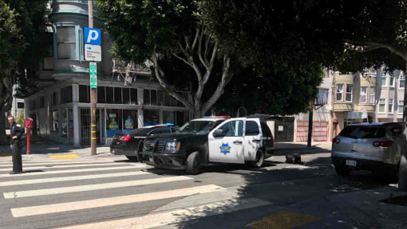 SFPD are seen during a standoff with a suspect on Saturday, May 27, 2017.