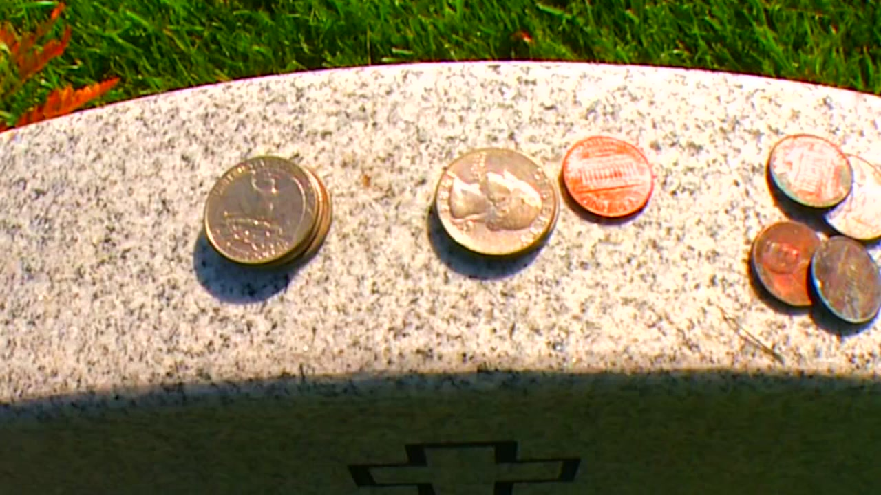 What Do Coins On Military Tombstones Mean Abc7chicago