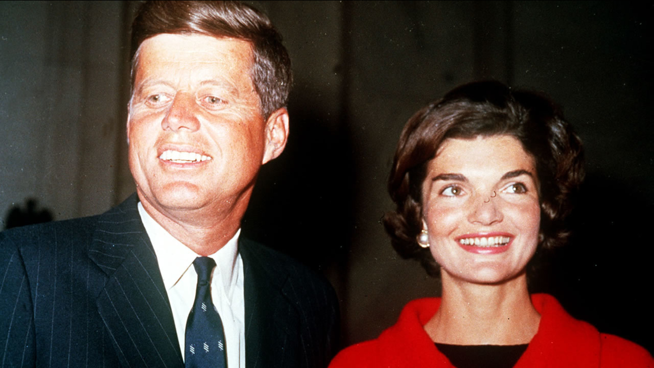 President Kennedy and wife Jackie (AP photo)