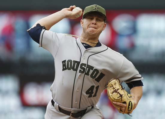 "<div class=""meta image-caption""><div class=""origin-logo origin-image ap""><span>AP</span></div><span class=""caption-text"">Houston Astros pitcher Brad Peacock throws against the Minnesota Twins in the first inning of a baseball game Monday, May 29, 2017, in Minneapolis. (AP Photo/Jim Mone) (AP)</span></div>"