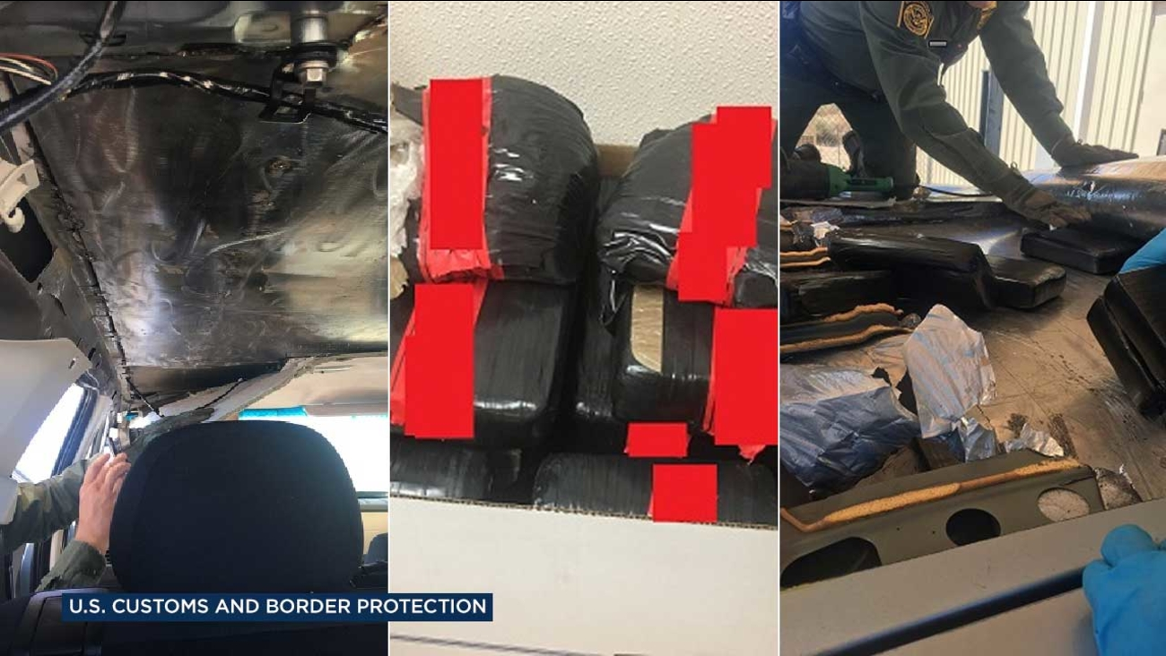U.S. Customs and Border Protection agents found various narcotics hidden in the roof of a Mazda during an inspection at the Highway 86 checkpoint on Saturday, May 27, 2017.