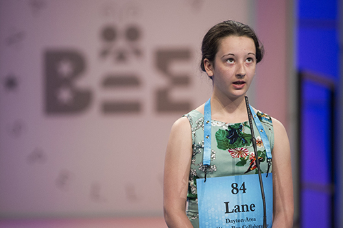 "<div class=""meta image-caption""><div class=""origin-logo origin-image ap""><span>AP</span></div><span class=""caption-text"">Lane Schnell of Centerville, Ohio misspells her word during the 90th Scripps National Spelling Bee in Oxon Hill, Md., Wednesday, May 31, 2017. (AP Photo/Cliff Owen)</span></div>"
