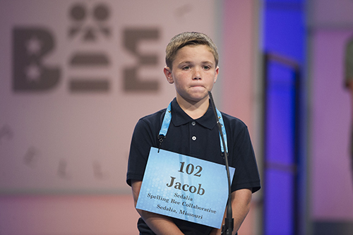 "<div class=""meta image-caption""><div class=""origin-logo origin-image ap""><span>AP</span></div><span class=""caption-text"">Jacob Muin of from Sedalia, Mo. misspells his word during the 90th Scripps National Spelling Bee in Oxon Hill, Md., Wednesday, May 31, 2017. (AP Photo/Cliff Owen)</span></div>"