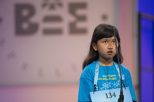 "<div class=""meta image-caption""><div class=""origin-logo origin-image ap""><span>AP</span></div><span class=""caption-text"">Farah Haniff of Boston, Mass. correctly spells her word during the 90th Scripps National Spelling Bee in Oxon Hill, Md., Wednesday, May 31, 2017. (AP Photo/Cliff Owen)</span></div>"