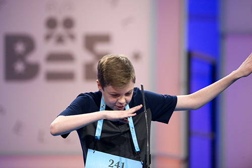 "<div class=""meta image-caption""><div class=""origin-logo origin-image ap""><span>AP</span></div><span class=""caption-text"">Will Rooke, 13, from Deephaven, Minn., does the dap after correctly spelling his word during the 90th Scripps National Spelling Bee in Oxon Hill, Md., Wednesday, May 31, 2017. (AP Photo/Cliff Owen)</span></div>"
