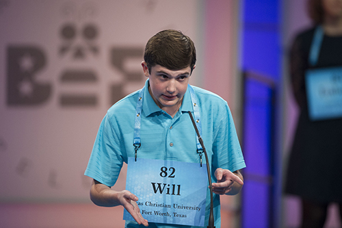 "<div class=""meta image-caption""><div class=""origin-logo origin-image ap""><span>AP</span></div><span class=""caption-text"">Will Lourcey Fort Worth, Texas correctly spells his word during the 90th Scripps National Spelling Bee in Oxon Hill, Md., Wednesday, May 31, 2017. (AP Photo/Cliff Owen)</span></div>"