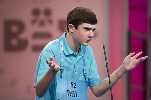 "<div class=""meta image-caption""><div class=""origin-logo origin-image ap""><span>AP</span></div><span class=""caption-text"">Will Lourcey of Fort Worth, Texas correctly spells his word during the 90th Scripps National Spelling Bee in Oxon Hill, Md., Wednesday, May 31, 2017. (AP Photo/Cliff Owen)</span></div>"