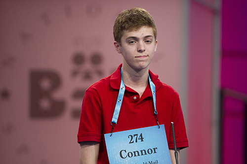 "<div class=""meta image-caption""><div class=""origin-logo origin-image ap""><span>AP</span></div><span class=""caption-text"">Connor Lawrence, 14, from Keedysville, Md., misspells his word during the 90th Scripps National Spelling Bee in Oxon Hill, Md., Wednesday, May 31, 2017. (AP Photo/Cliff Owen)</span></div>"