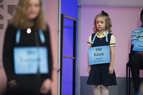 "<div class=""meta image-caption""><div class=""origin-logo origin-image ap""><span>AP</span></div><span class=""caption-text"">Edith Fuller, 6, from Tulsa, Okla., waits to spell her word in the 90th Scripps National Spelling Bee in Oxon Hill, Md., Wednesday, May 31, 2017. (AP Photo/Cliff Owen)</span></div>"